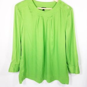 Talbots Green 3/4 Sleeve Green Top Size 12